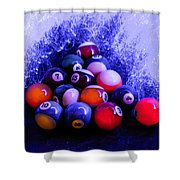 Pool Wave Shower Curtain