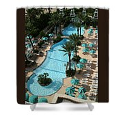 Pool1112b Shower Curtain