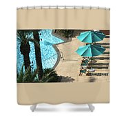 Pooldeck1145b Shower Curtain