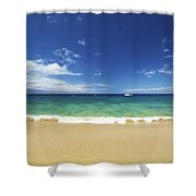 Poolenalena Beach Park Shower Curtain by Kicka Witte