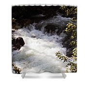 Pooling White Water Shower Curtain