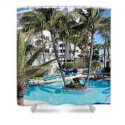 Miami Beach Poolside 03 Shower Curtain
