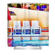 Poolside Shower Curtain