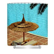 Poolside Relaxation Shower Curtain