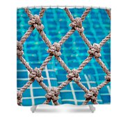 Poolside Robe Fence Shower Curtain