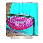 Pool Time Palm Springs Shower Curtain