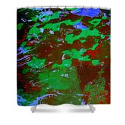 Poolwater Abstract Shower Curtain
