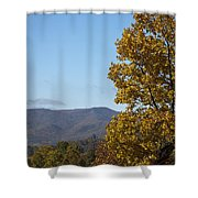 Poor Mountain View Shower Curtain