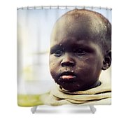 Poor Young Child Portrait. Tanzania Shower Curtain