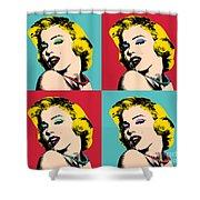 Pop Art Collage  Shower Curtain