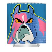 Pop Art Dog  Shower Curtain
