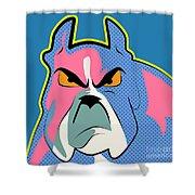 Pop Art Dog  Shower Curtain