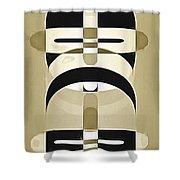Pop Art People Totem 3 Shower Curtain