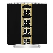 Pop Art People Totem 5 Shower Curtain