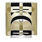 Pop Art People Totem 6 Shower Curtain