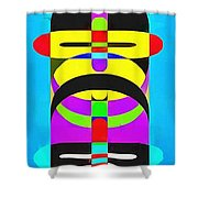 Pop Art People Totem 7 Shower Curtain