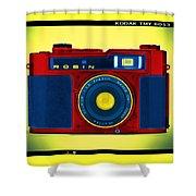 Pop Art Robin Shower Curtain by Mike McGlothlen
