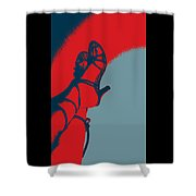 Pop Art Shoes In Red Shower Curtain