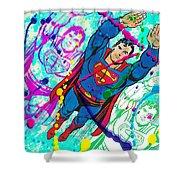 Pop Art Superman Shower Curtain