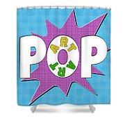 Pop Art Words Splat 01 Shower Curtain