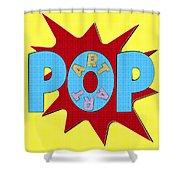 Pop Art Words Splat 02 Shower Curtain