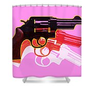 Pop Handgun Shower Curtain