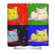 Pop Kitty Shower Curtain