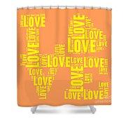 Pop Love 3 Shower Curtain