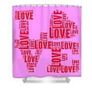 Pop Love 4 Shower Curtain