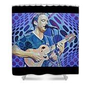 The Dave Matthews Band Op Art Style Shower Curtain