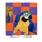 Pop Parrot Shower Curtain