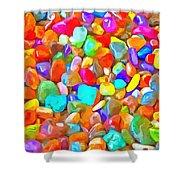 Pop Rocks Abstract Shower Curtain