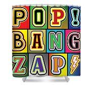 Pop Words Shower Curtain