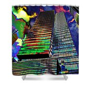 Popart In The Sky Shower Curtain