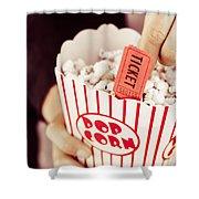 Popcorn Box Office Shower Curtain