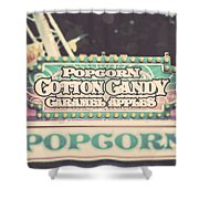 Popcorn Stand Carnival Photograph From The Summer Fair Shower Curtain