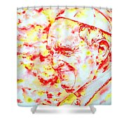 Pope Francis Profile -watercolor Portrait Shower Curtain