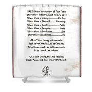 Pope Francis St. Francis Simple Prayer Sicily Shower Curtain