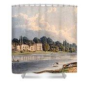 Popes Villa At Twickenham, 1828 Shower Curtain