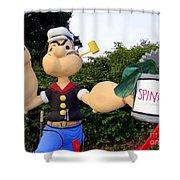 Popeye The Sailor Man Shower Curtain
