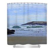Popham Beach Surf Shower Curtain