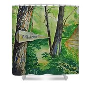 Poplar Point Camp Shower Curtain
