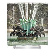 Popp Fountain In City Park New Orleans Shower Curtain