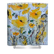 Poppies 03 Shower Curtain