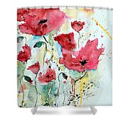 Poppies 05 Shower Curtain by Ismeta Gruenwald