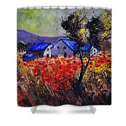 Poppies 4110 Shower Curtain