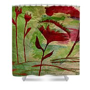 Poppies Abstract 2 Shower Curtain