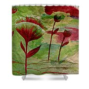 Poppies Abstract 3 Shower Curtain