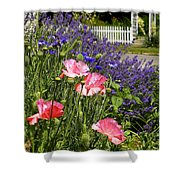 Poppies And Lavender Shower Curtain