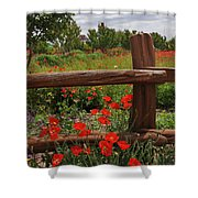 Poppies At The Farm Shower Curtain